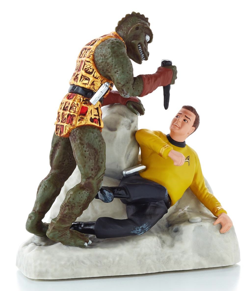 The Kirk/Gorn Ornament Is Undoubtedly Our Favorite U2013 Itu0027s An Iconic Scene  And Hallmark Have Immortalized It Rather Wonderfully In This Cute Ornament!