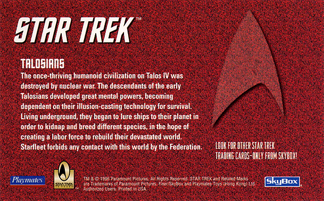 Skybox TOS Product Inserts - Star Trek Specials Images
