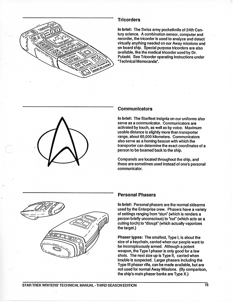TNG S3 Writers' Technical Manual - Star Trek Specials Images